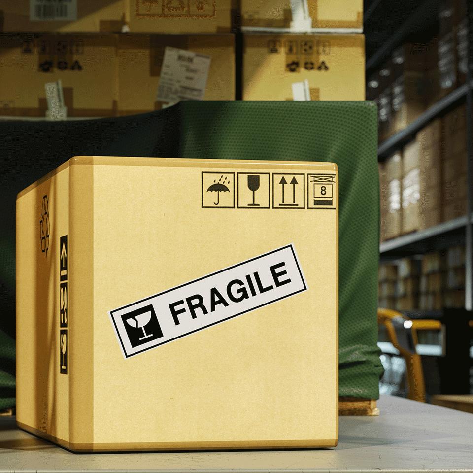 Rotolo di etichette di carta a lunghezza continua originale Brother DK-22223 – Nero su bianco, 50 mm di larghezza 2