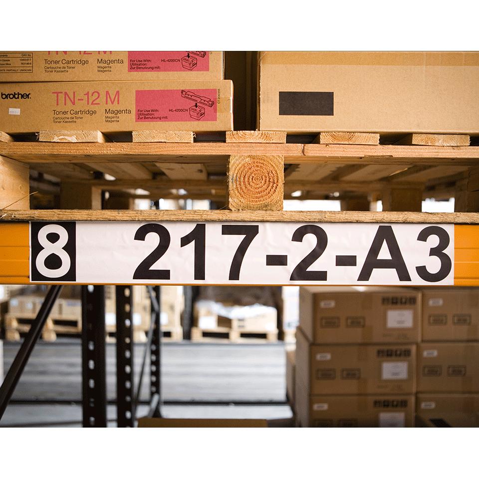 Rotolo di etichette di carta a lunghezza continua originale Brother DK-22243 – Nero su bianco, 102 mm di larghezza 2