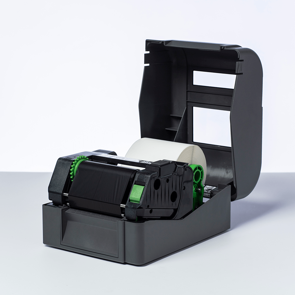 Nastro nero a trasferimento termico a base cera/resina standard BSS-1D300-110 2