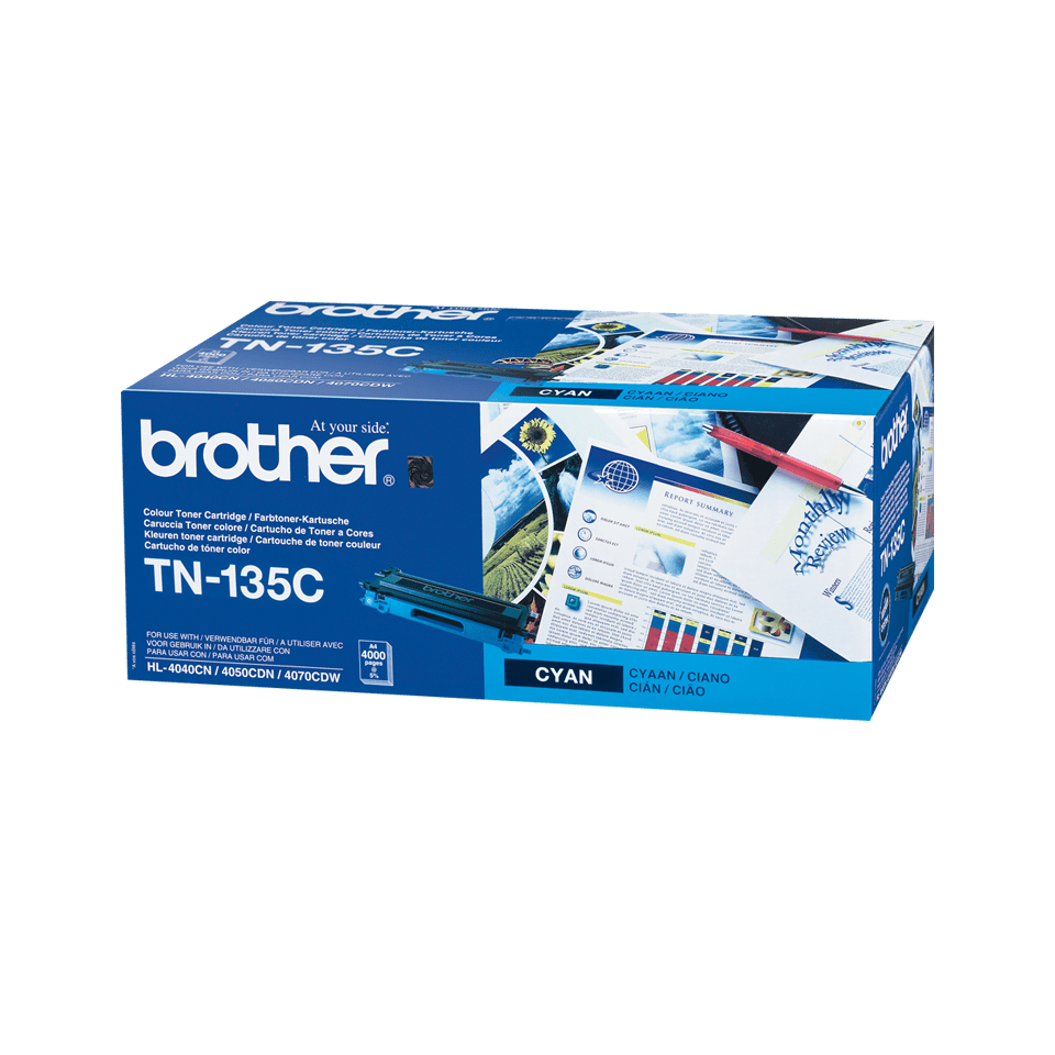 Cartuccia di toner ad alto rendimento originale Brother TN-135C – Ciano