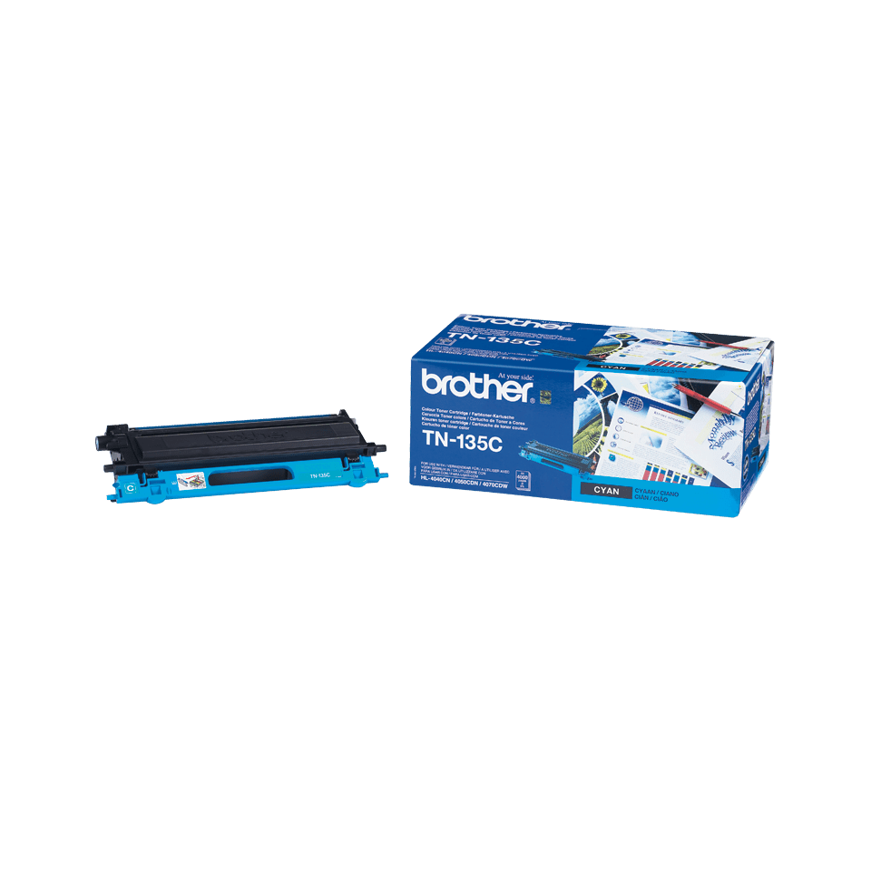 Cartuccia di toner ad alto rendimento originale Brother TN-135C – Ciano 2
