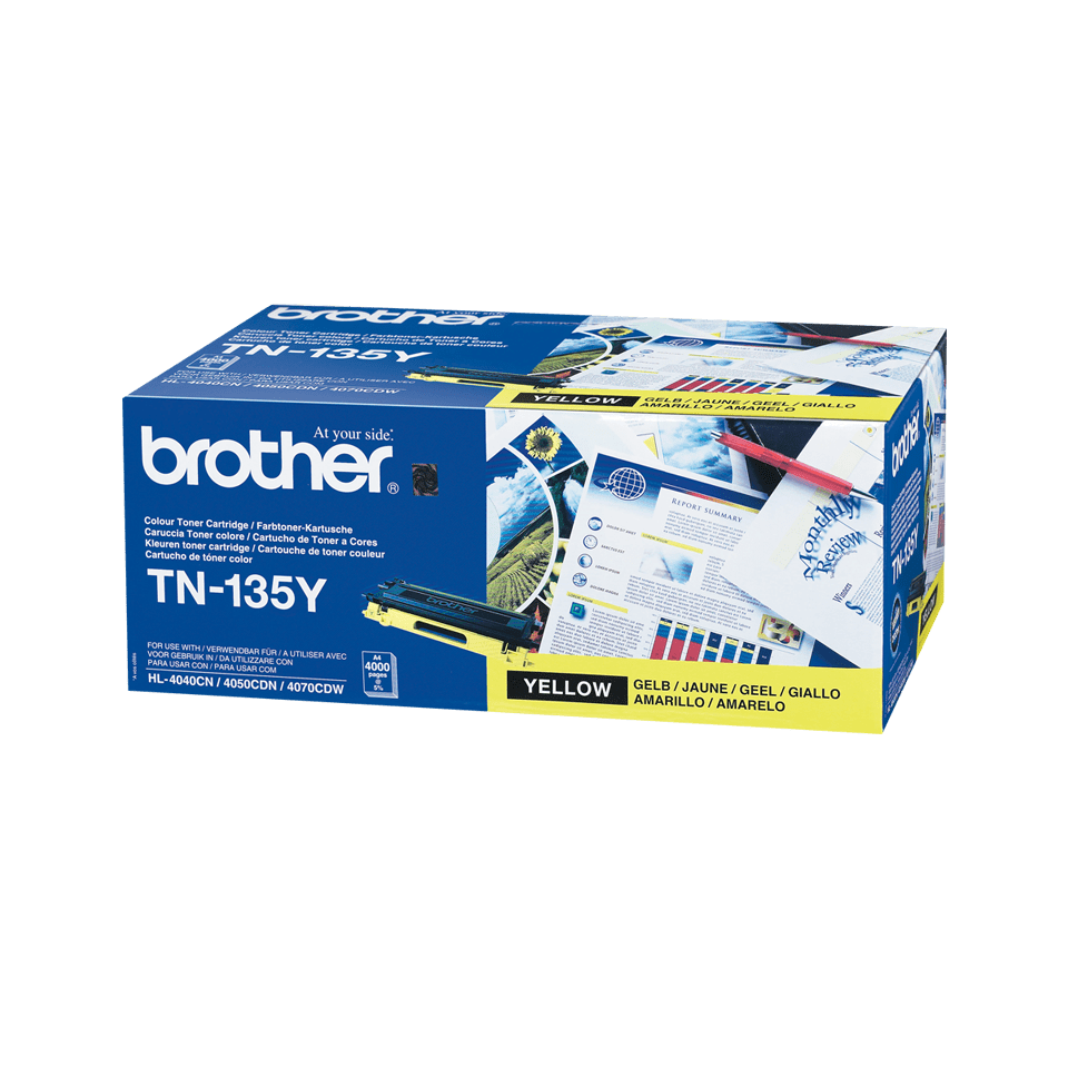 Cartuccia di toner ad alto rendimento originale Brother TN-135Y – Giallo