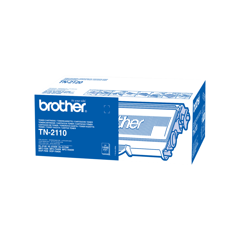 Cartuccia di toner originale Brother TN-2110 – Nero