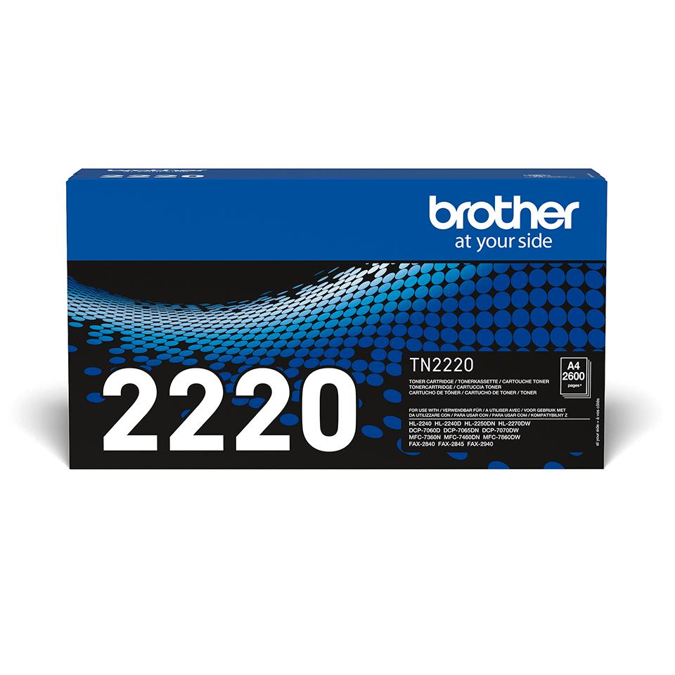Brother TN-2220 Toner originale ad alta capacità – Nero