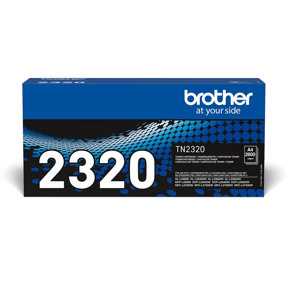 Brother TN-2320 Toner originale ad alta capacità - nero