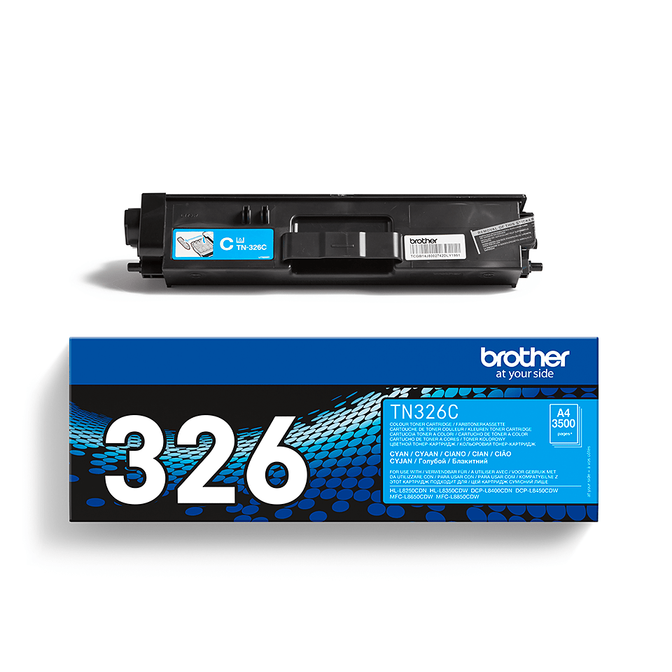 Brother TN-326C Toner ciano originale ad alta capacità 2