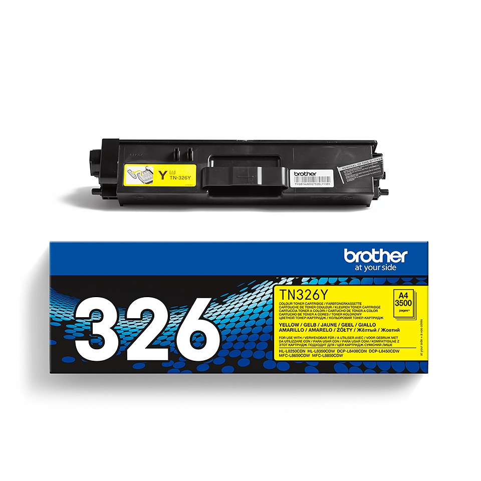 Brother TN-326Y Toner orginale – Giallo 2