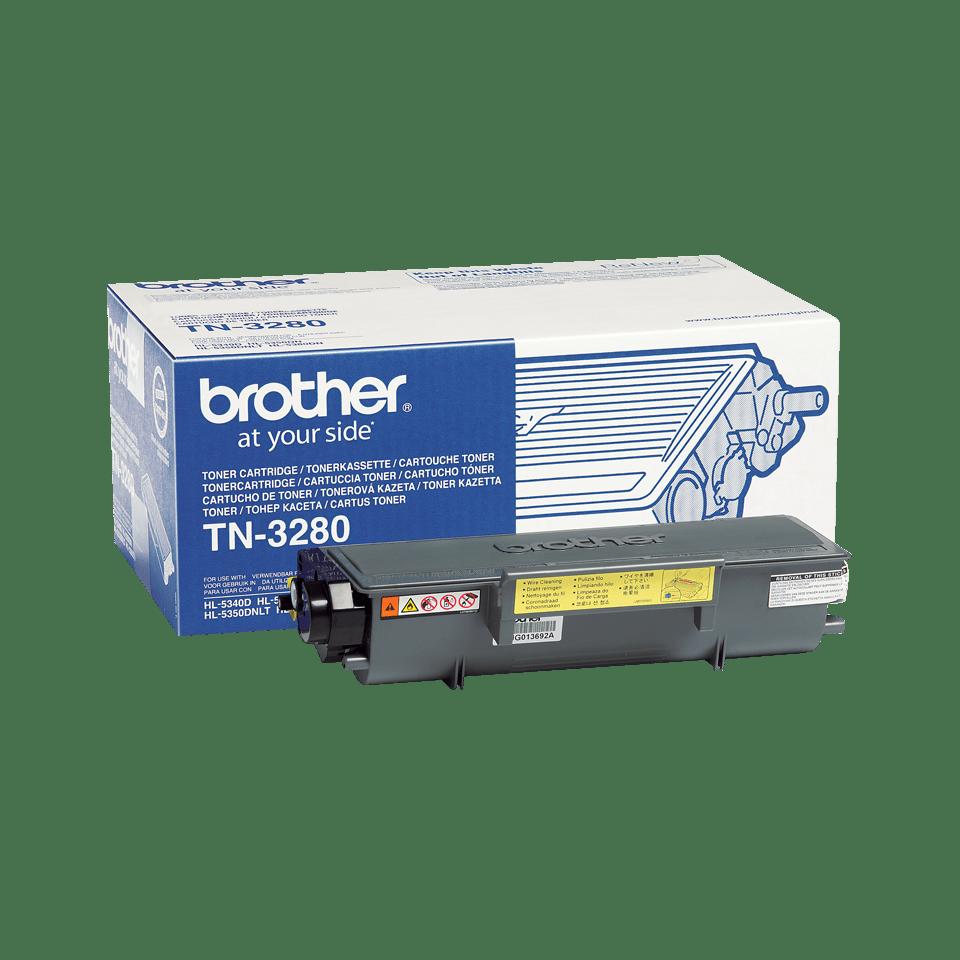 Cartuccia di toner ad alto rendimento originale Brother TN-3280 – Nero