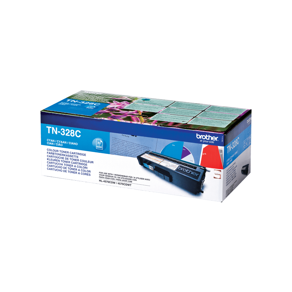 Cartuccia di toner originale Brother TN-328C – Ciano