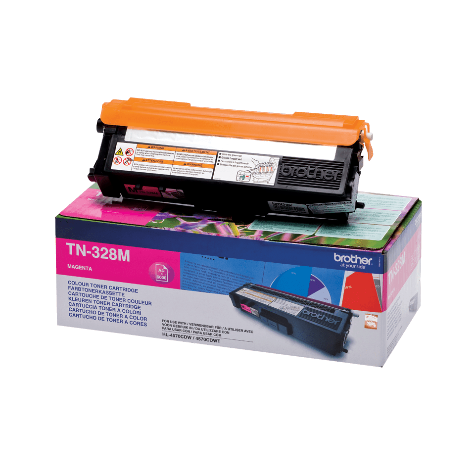 Cartuccia di toner originale Brother TN-328M – Magenta