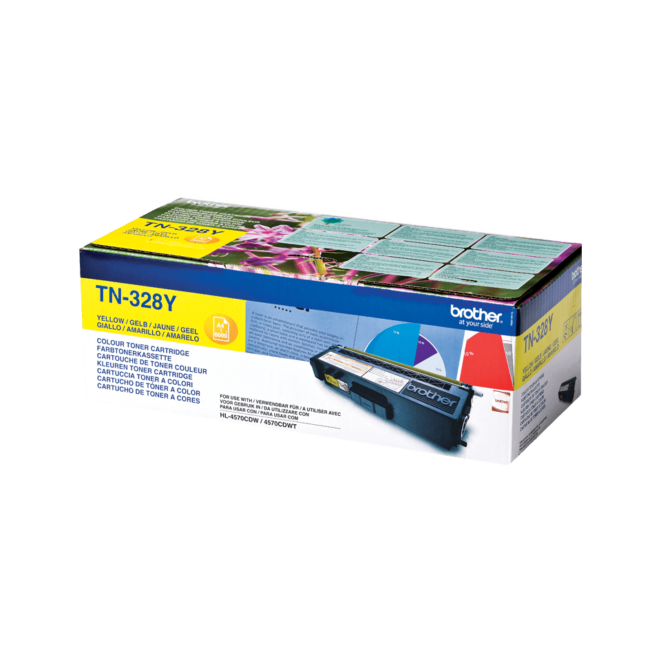 Cartuccia di toner originale Brother TN-328Y – Giallo