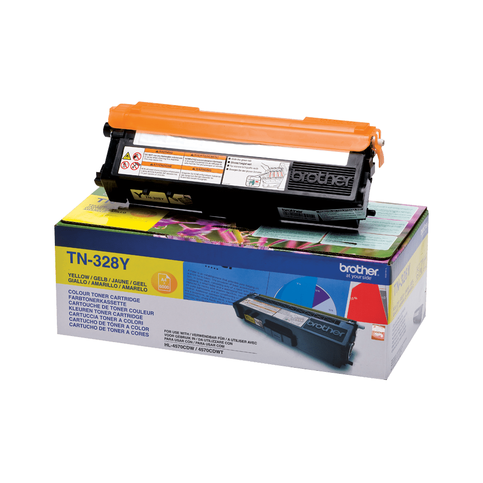 Cartuccia di toner originale Brother TN-328Y – Giallo 2