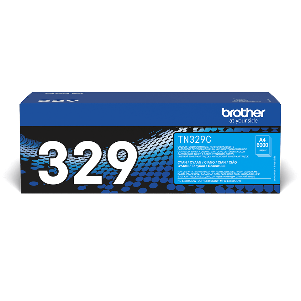 Cartuccia di toner originale Brother TN-329C – Ciano