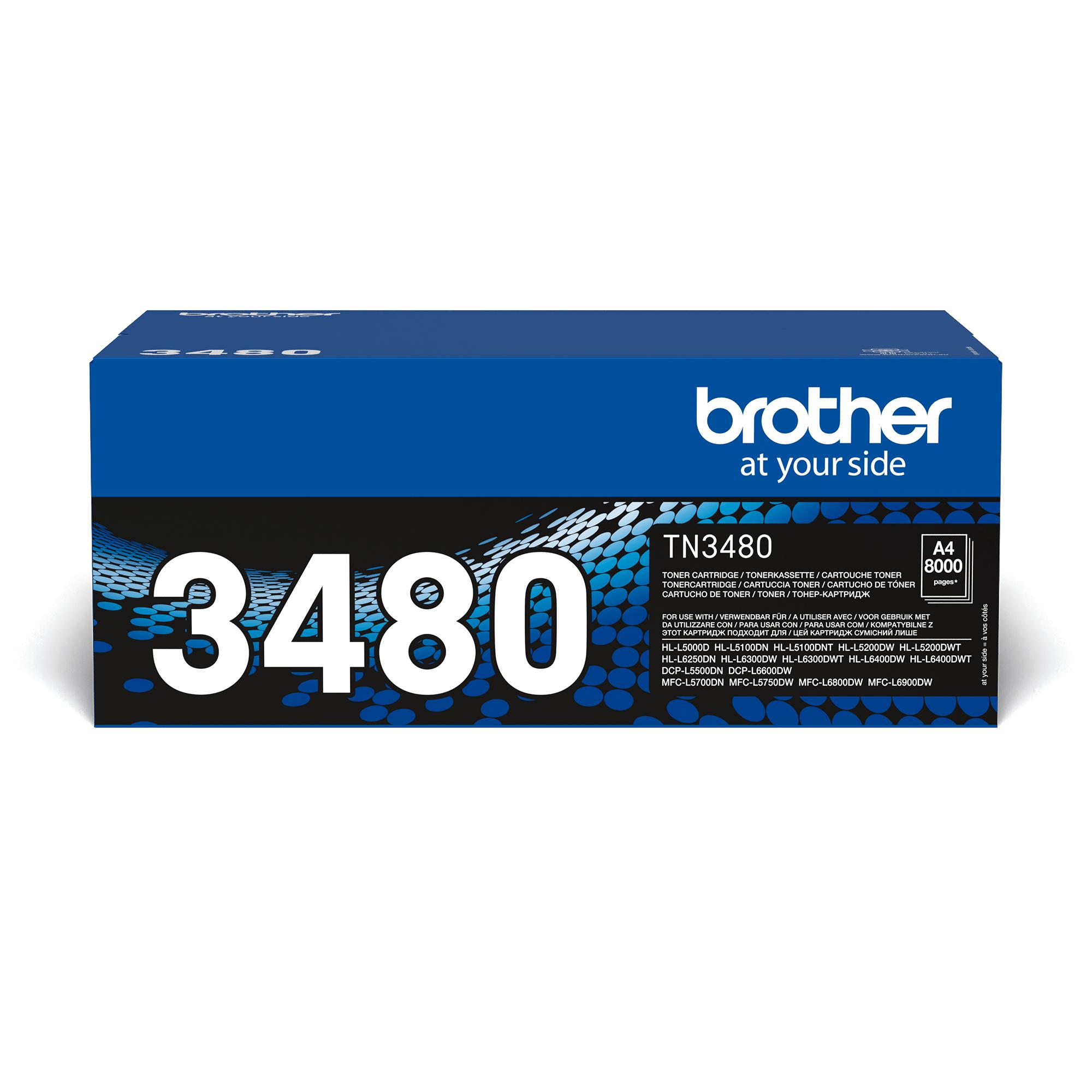 TN-3480 Toner originale ad alta capacità - Nero