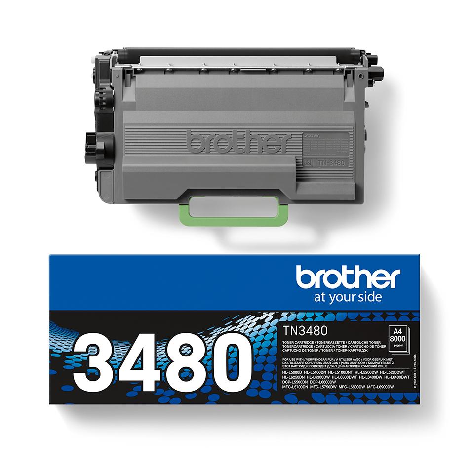 TN-3480 Toner originale ad alta capacità - Nero 2