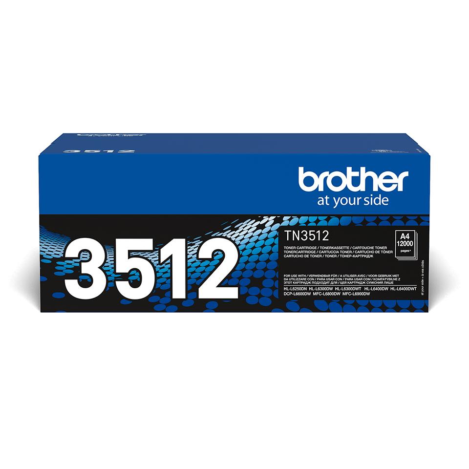 Cartuccia di toner ad alto rendimento originale Brother TN-3512 – Nero