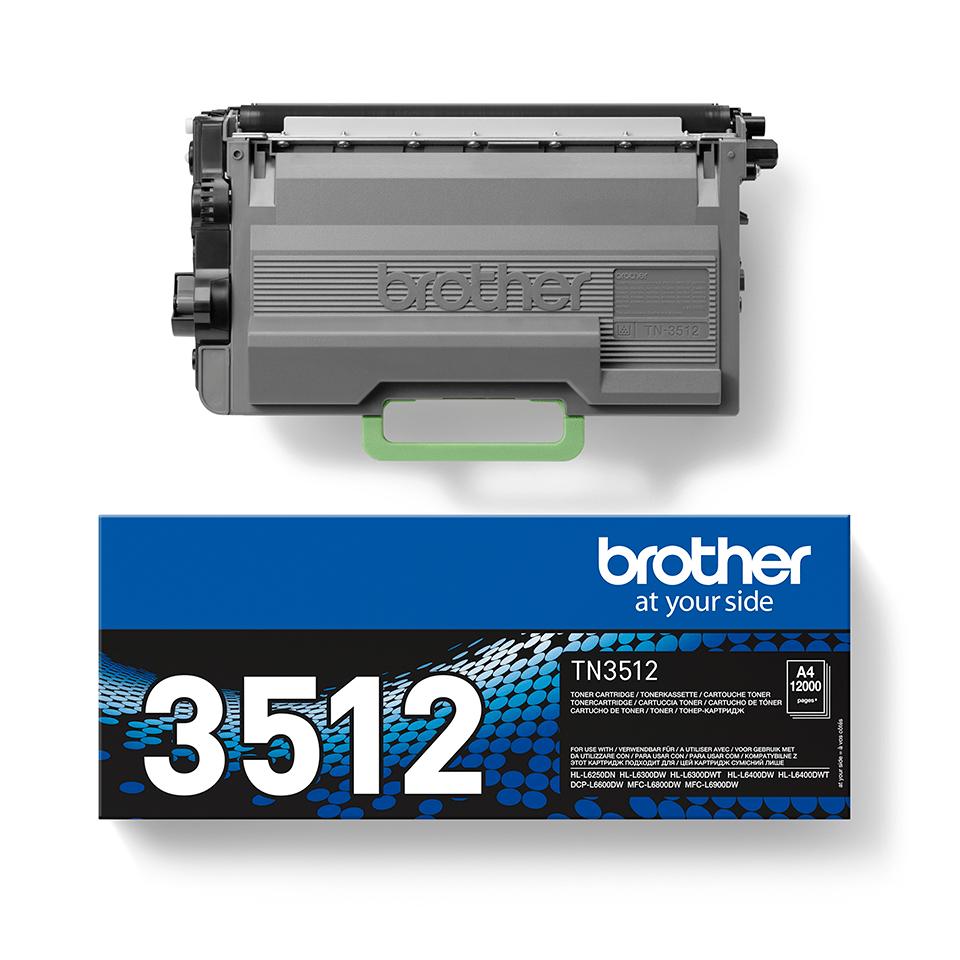 Cartuccia di toner ad alto rendimento originale Brother TN-3512 – Nero 2