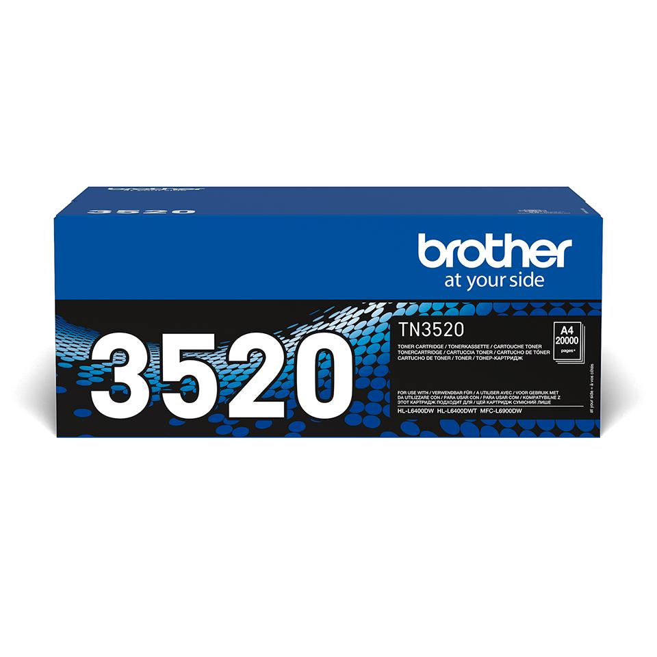 Cartuccia di toner ad altissimo rendimento originale Brother TN-3520 – Nero