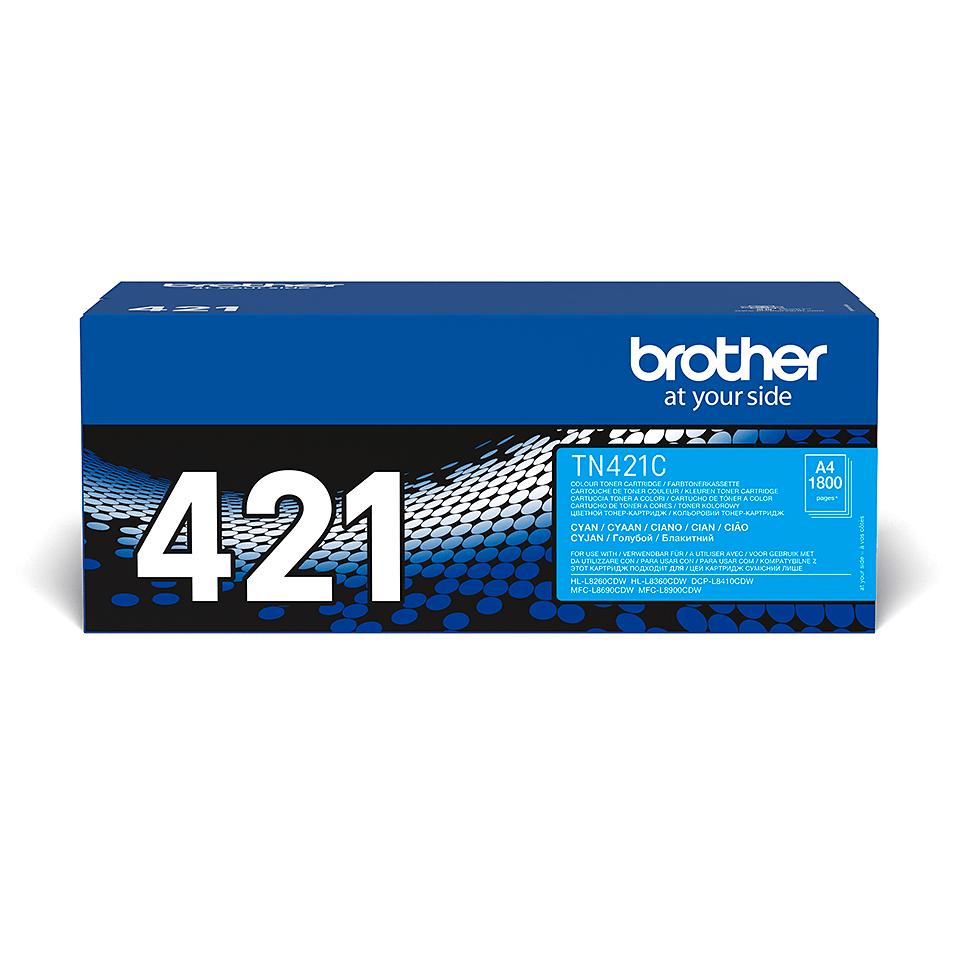 Brother TN-421C Toner ciano originale 2