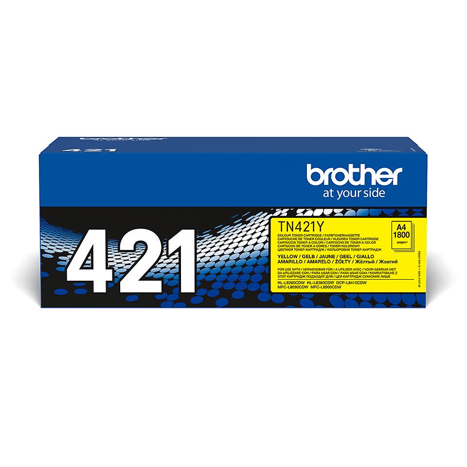 Brother TN-421Y Toner originale giallo