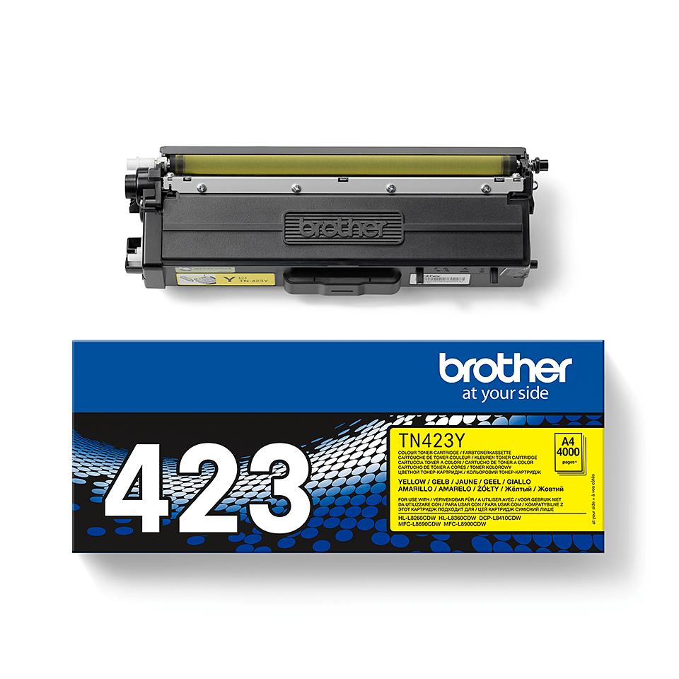 Brother TN-423Y Toner originale - Giallo 2