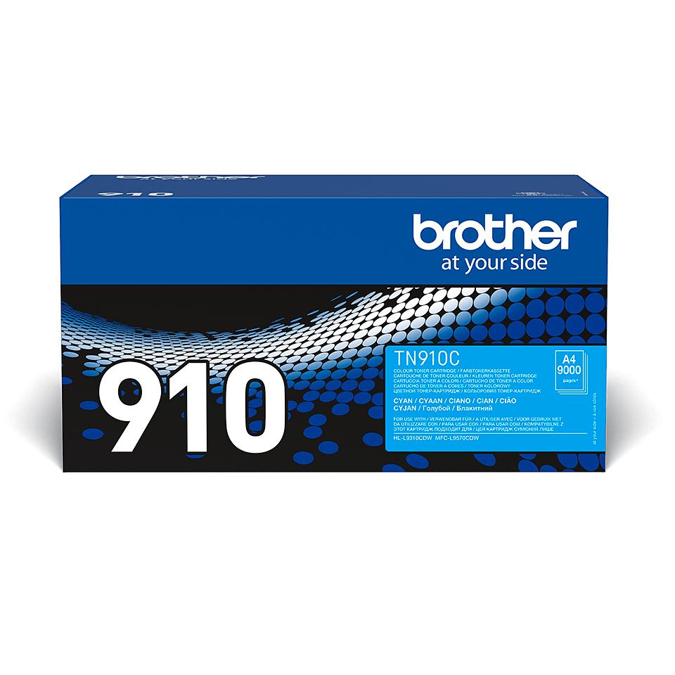 Brother TN-910C Toner originale – Ciano