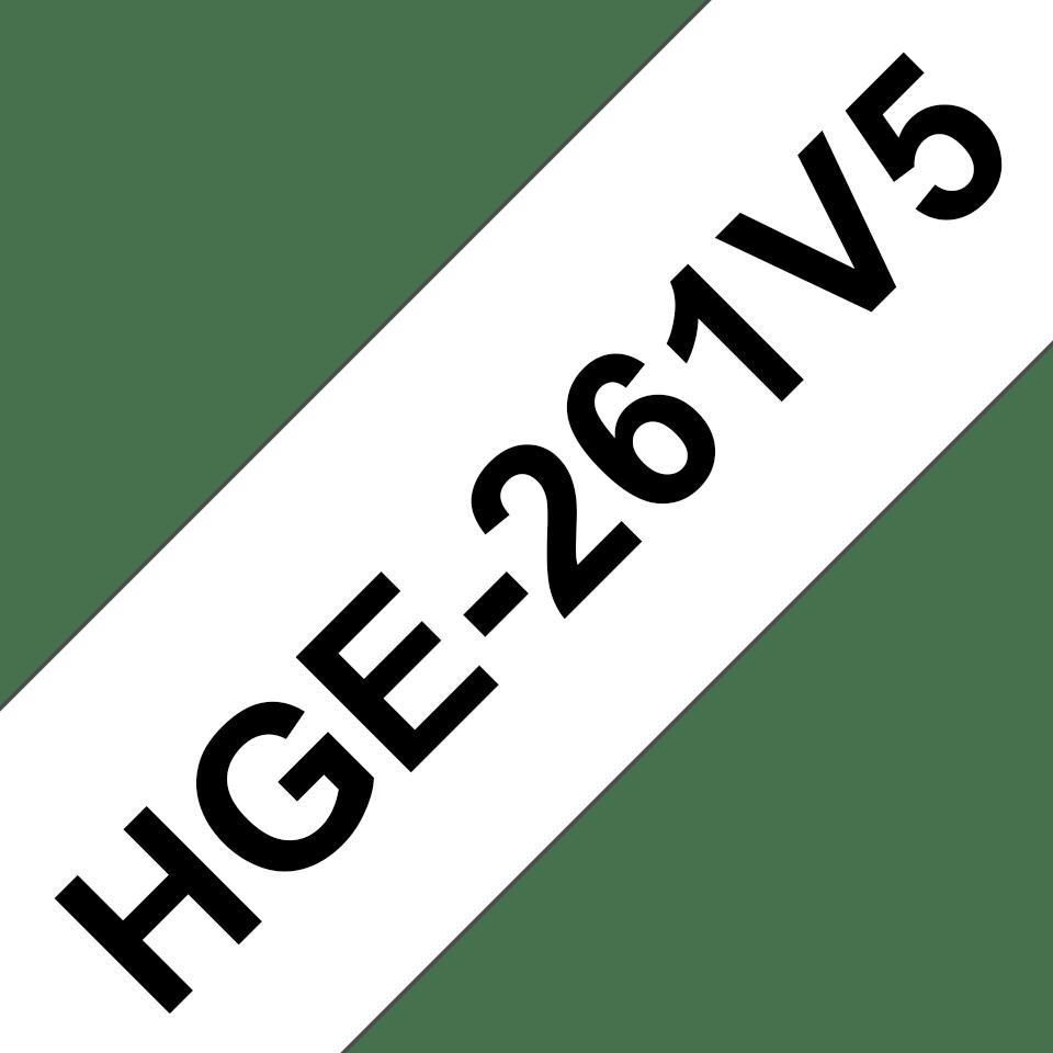 Brother HGe-261V5 Nastro laminato originale High Grade da 36 mm - nero su bianco