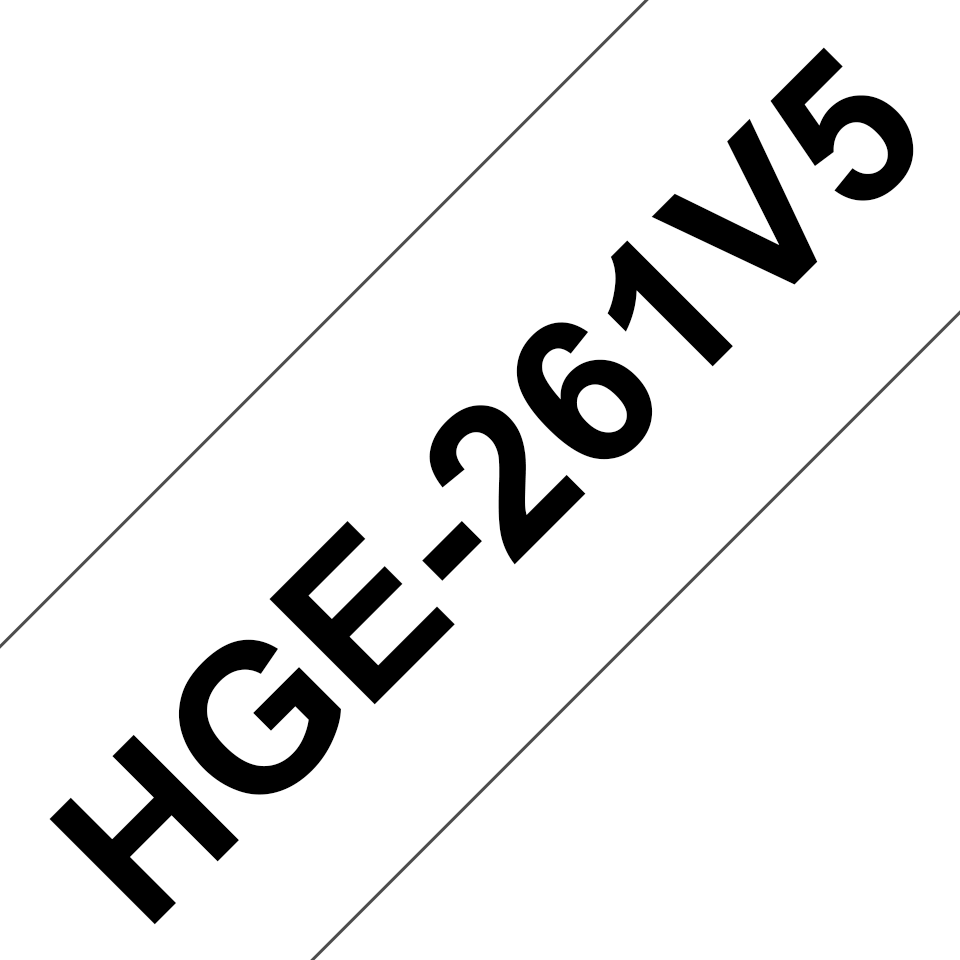 Brother HGe-261V5 Nastro laminato originale High Grade da 36 mm - nero su bianco
