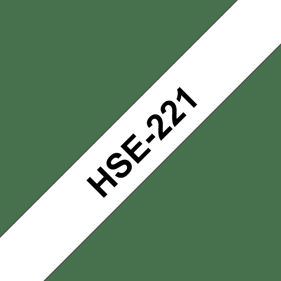 Rotolo di etichette originale Brother HSe-221 – Termorestringente nero su bianco, 8,8 mm x 1,5 m 3
