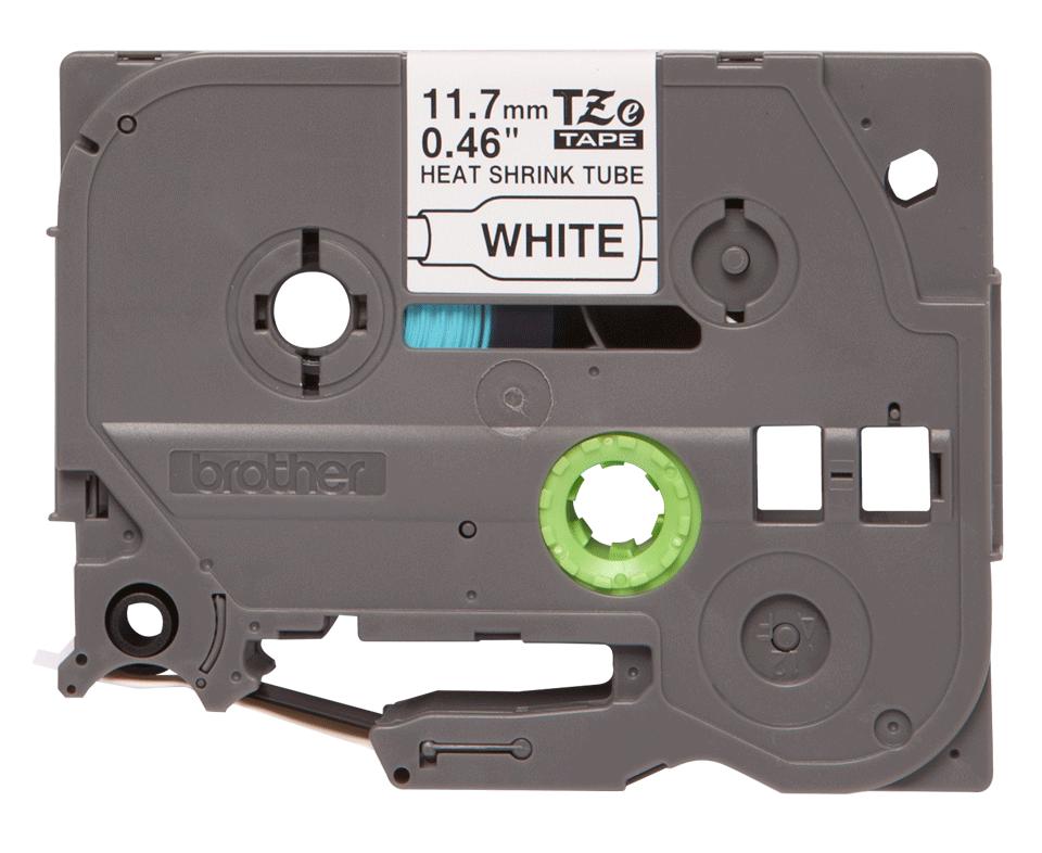 Cassetta tubo termorestringente originale Brother HSe-231 – Nero su bianco, 11,7 mm di larghezza