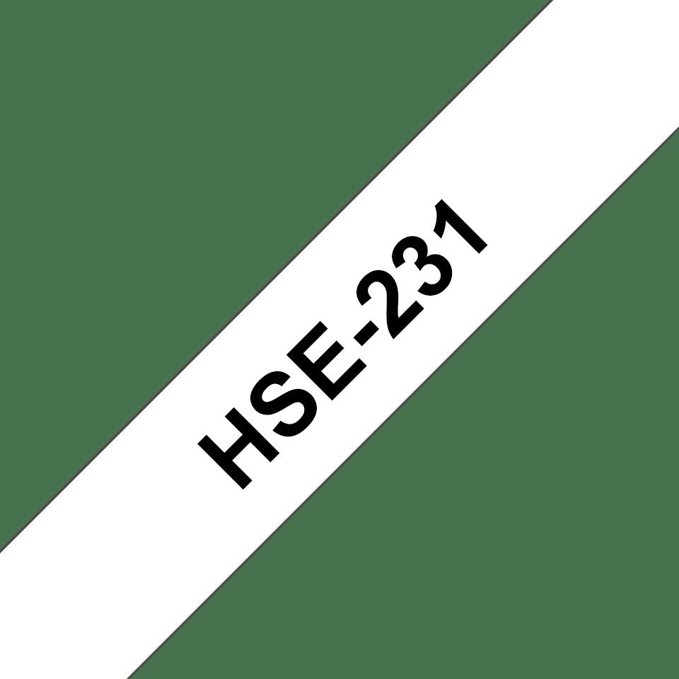 Cassetta tubo termorestringente originale Brother HSe-231 – Nero su bianco, 11,7 mm di larghezza 3