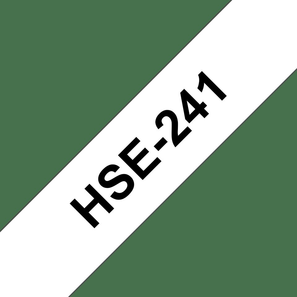 Cassetta tubo termorestringente originale Brother HSe-241 – Nero su bianco, 17,7 mm di larghezza 3