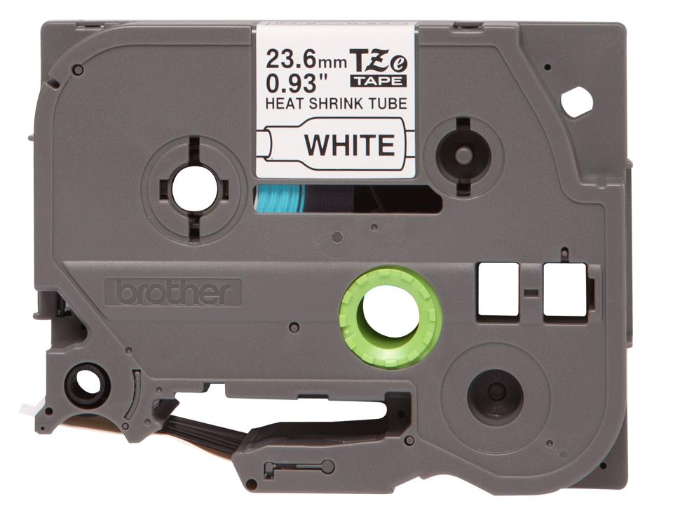 Cassetta tubo termorestringente originale Brother HSe-251 – Nero su bianco, 23,6 mm di larghezza