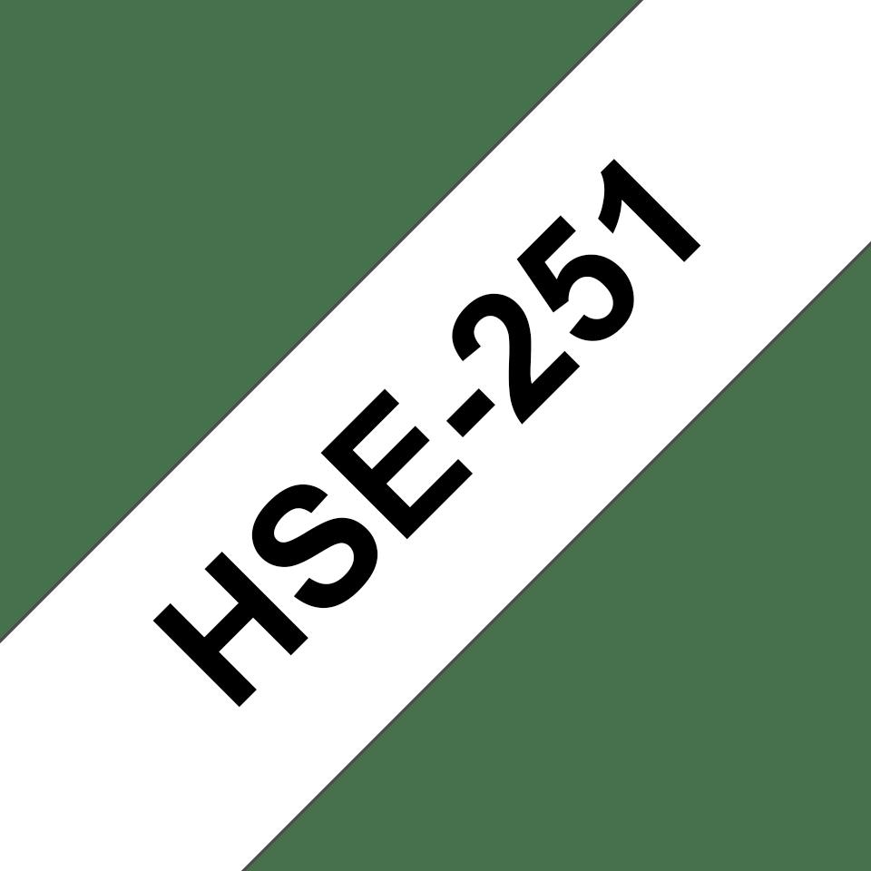 Cassetta tubo termorestringente originale Brother HSe-251 – Nero su bianco, 23,6 mm di larghezza 3