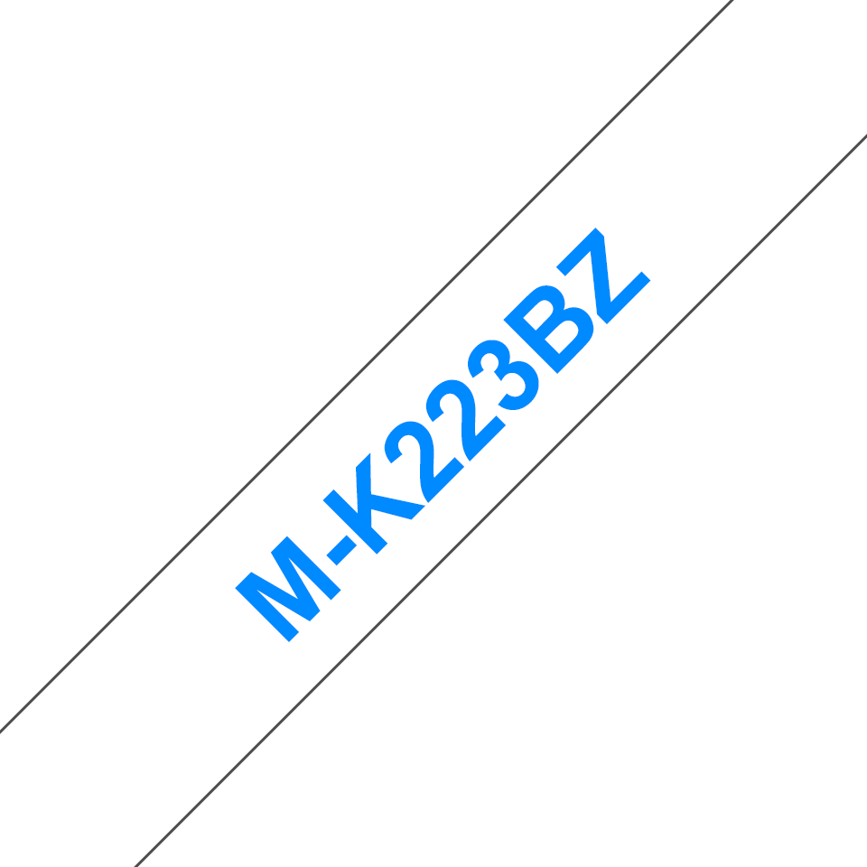 Cassetta nastro per etichettatura originale Brother M-K223BZ – Blu su bianco, 9 mm di larghezza