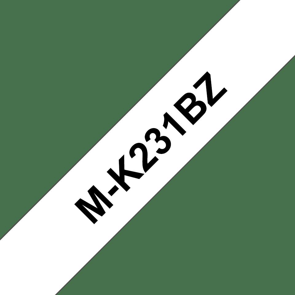 Nastro per etichettatura originale Brother M-K231BZ – Nero su bianco, 12 mm di larghezza