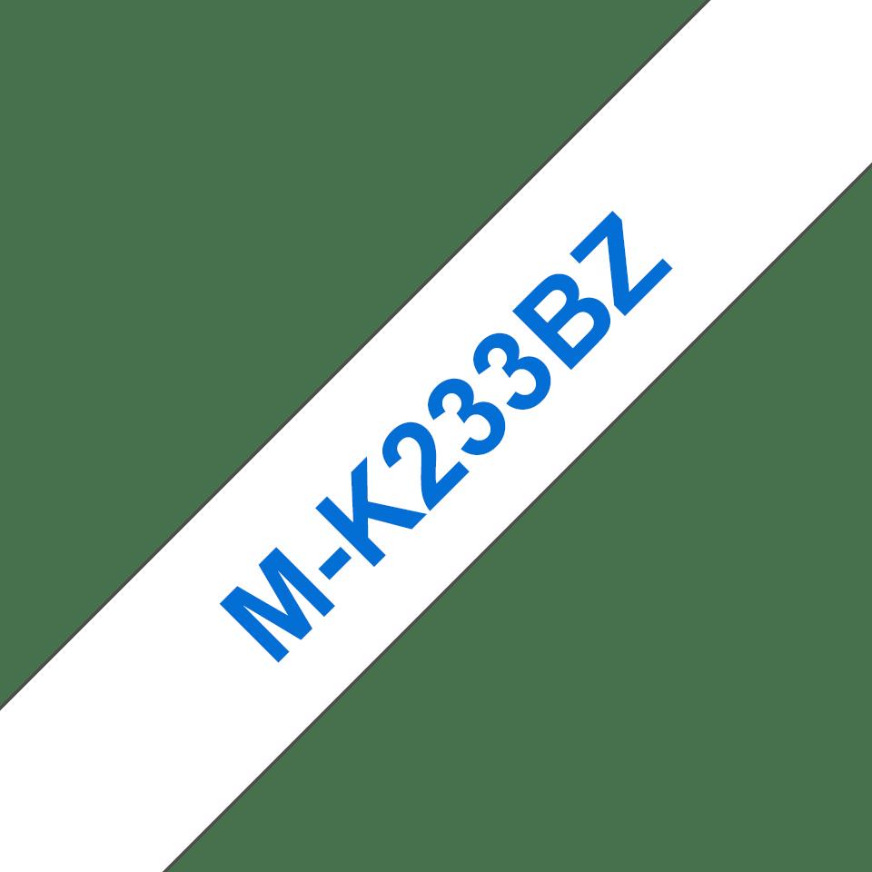 Cassetta nastro per etichettatura originale Brother M-K233BZ – Blu su bianco, 12 mm di larghezza