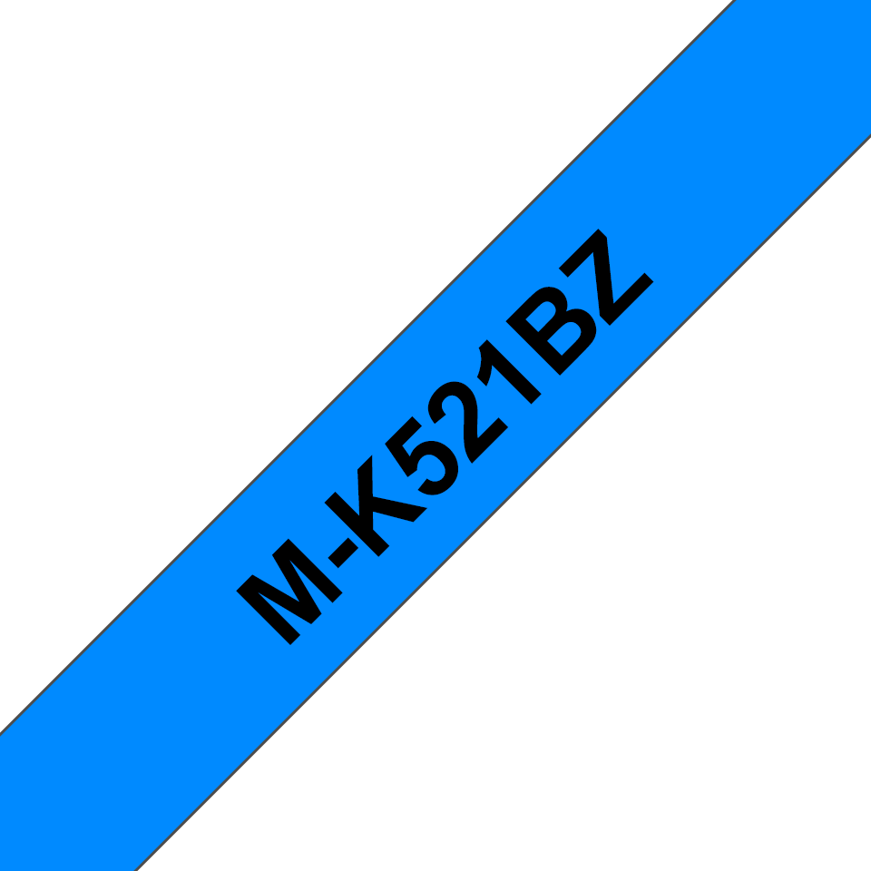 Cassetta nastro per etichettatura originale Brother M-K521BZ – Nero su blu, 9 mm di larghezza