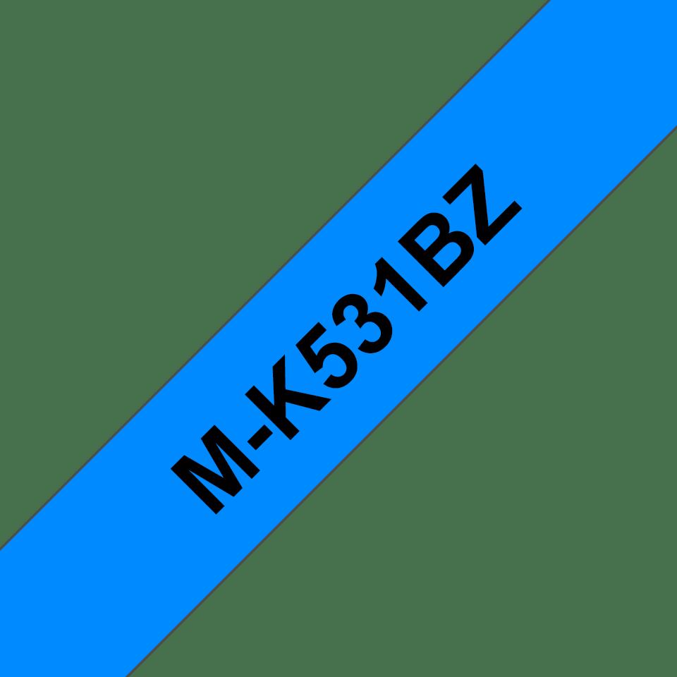 Cassetta nastro per etichettatura originale Brother M-K531BZ – Nero su blu, 12 mm di larghezza 0