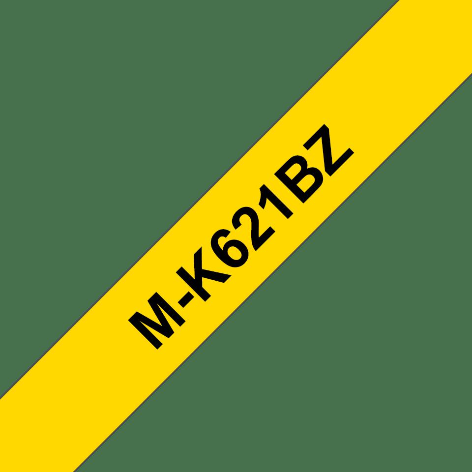 Cassetta nastro per etichettatura originale Brother M-K621BZ – Nero su giallo, 9 mm di larghezza