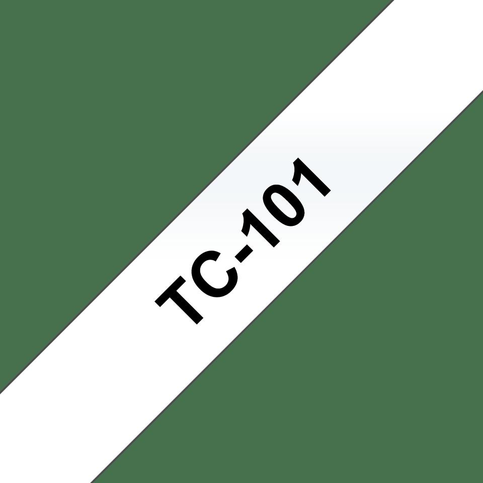 Brother TC-101 Cassetta nastro per etichettatura originale – Nero su trasparente