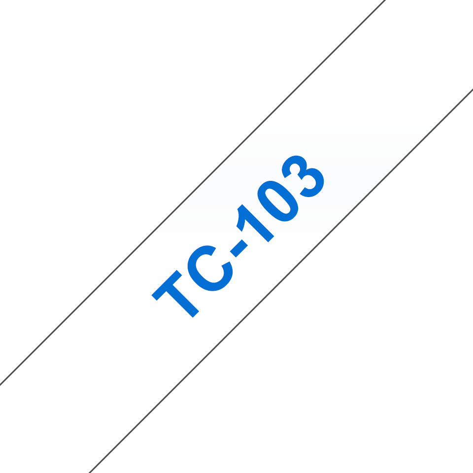 Brother TC-103 Cassetta nastro per etichettatura originale - Blu su trasparente