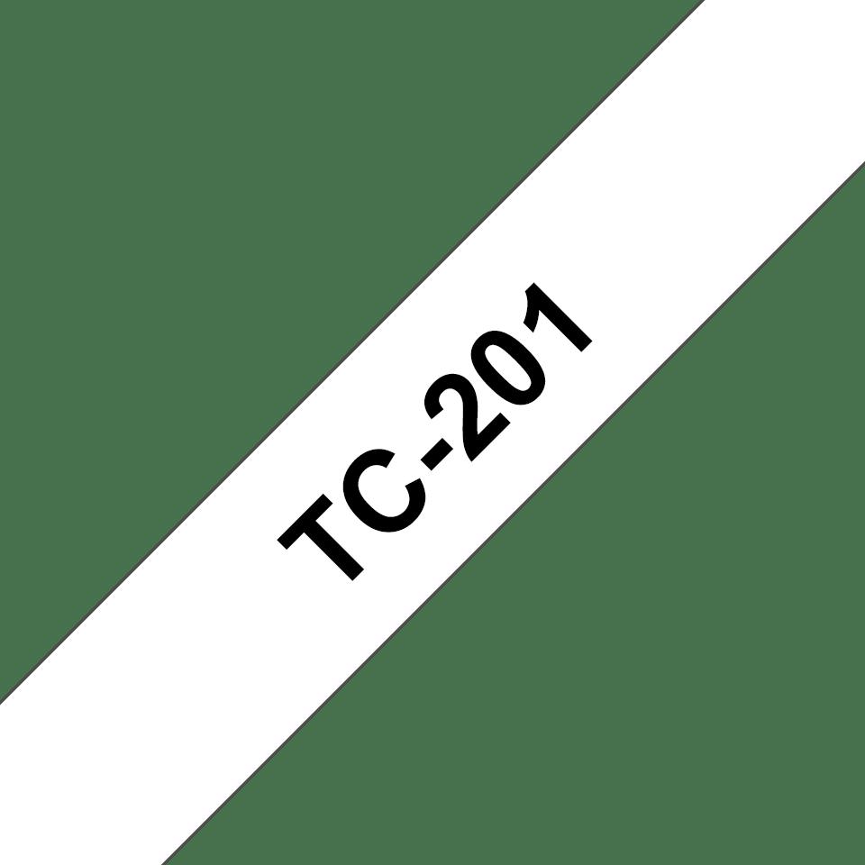 Brother TC-201 Cassetta nastro per etichettatura originale - Nero su bianco