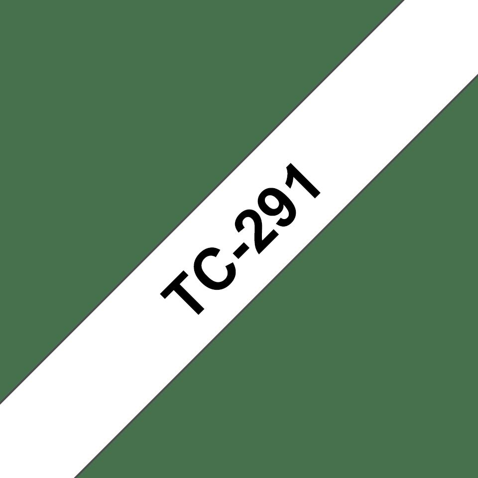 Brother TC-291 Cassetta nastro per etichettatura originale  – Nero su bianco