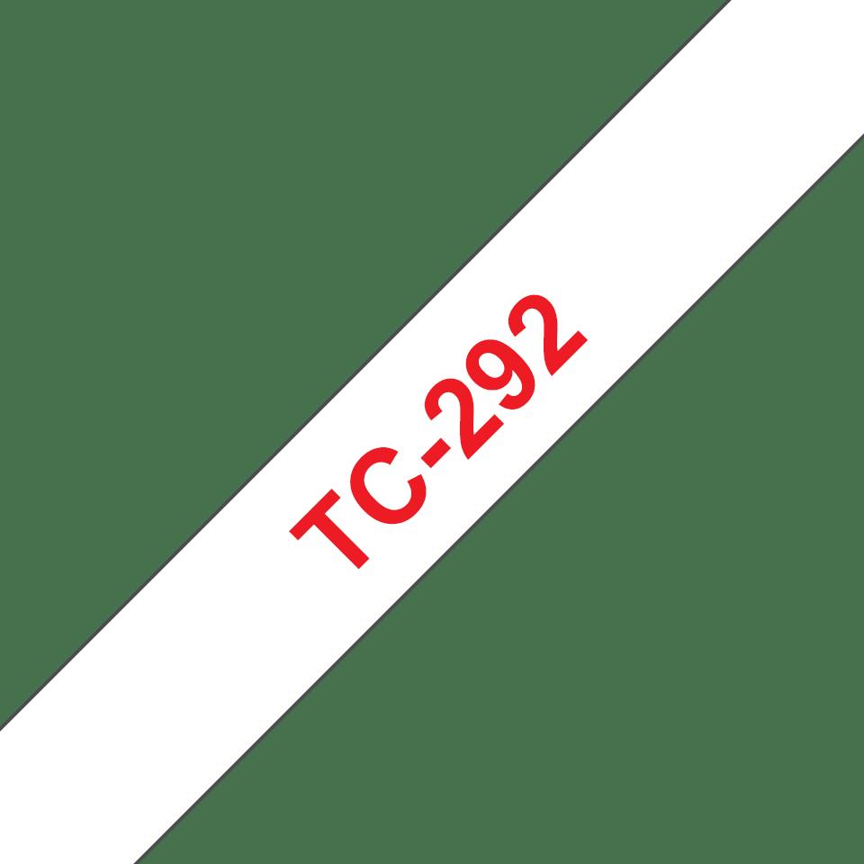 Brother TC-292 Cassetta nastro per etichettatura originale - Rosso su bianco