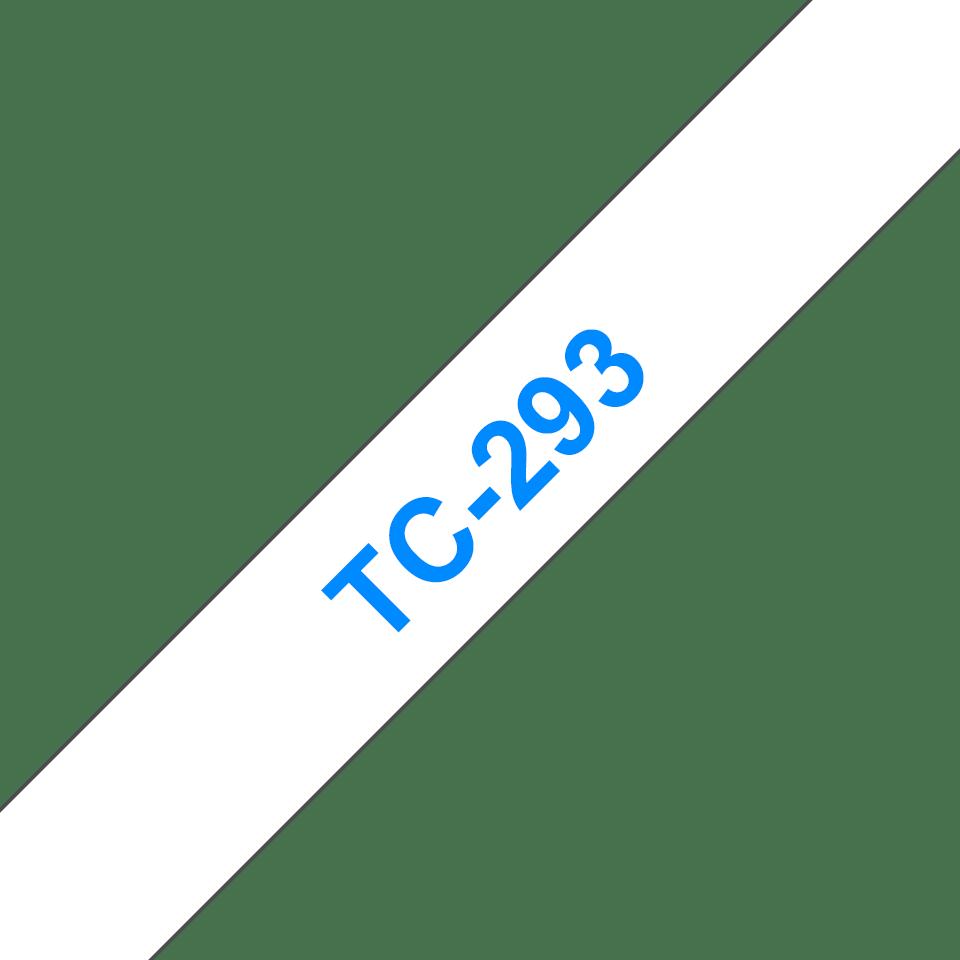 Brother TC-293 Cassetta nastro per etichettatura originale - Blu su bianco