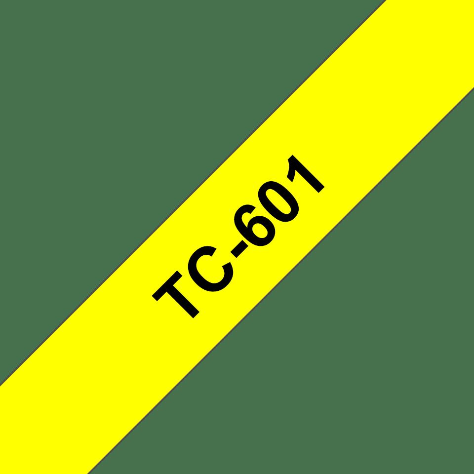 Brother TC-601 Cassetta nastro per etichettatura originale - Nero su giallo 0