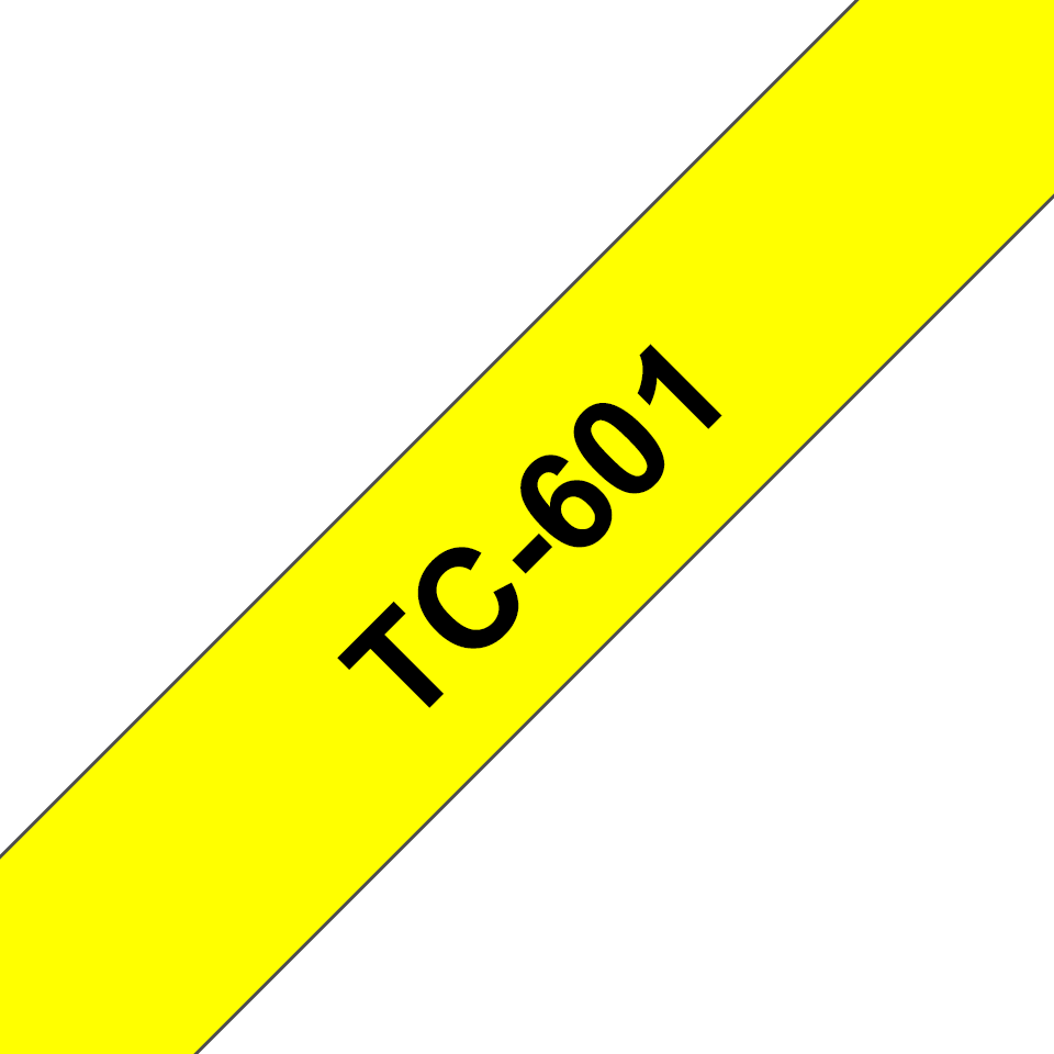 Brother TC-601 Cassetta nastro per etichettatura originale - Nero su giallo