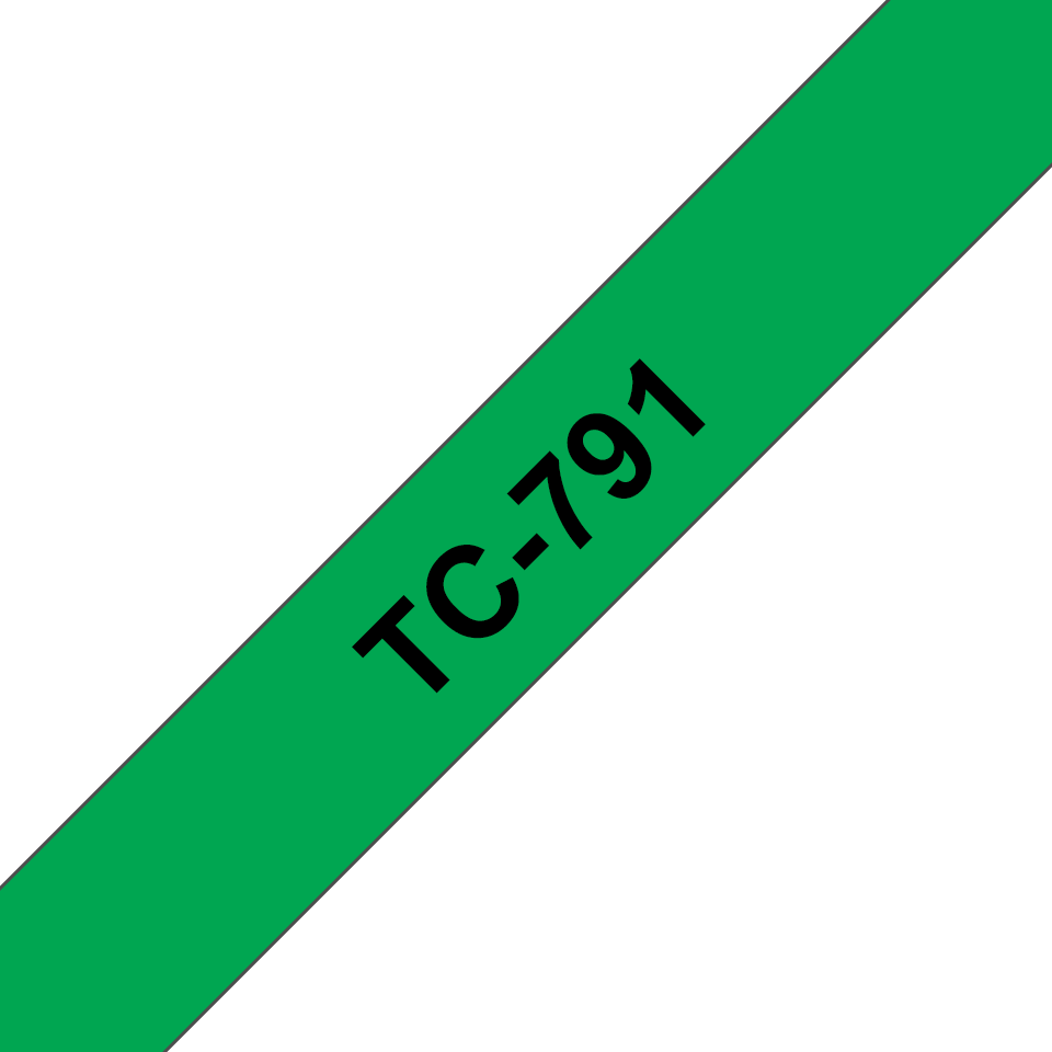 Brother TC-791 Cassetta nastro per etichettatura originale - Nero su verde