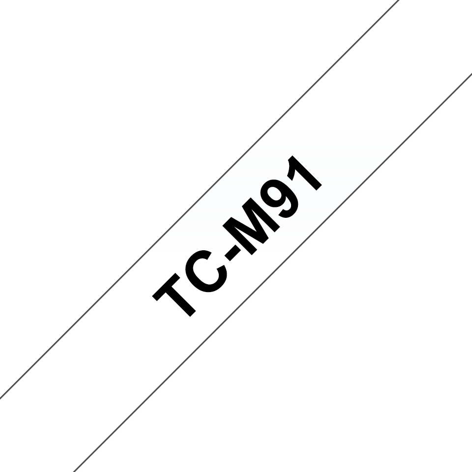 Brother TC-M91 Cassetta nastro per etichettatura originale - Nero su trasparente